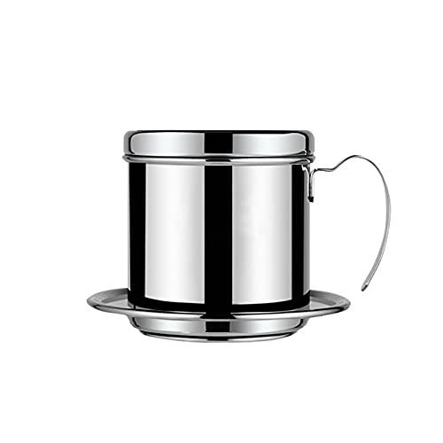 OMVOVSO Filtro vietnamita café, Filtro de Acero Inoxidable, vietnamita máquina de café pote de la Prensa tamiz, Regalo cafetera portátil para Baristas y los Amantes del café,Plata