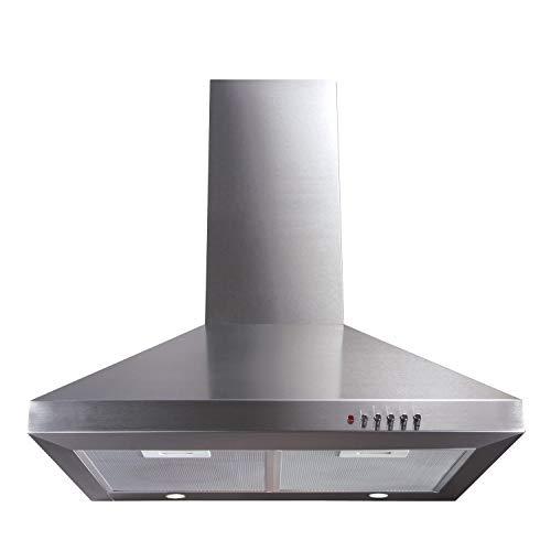campana extractora para cocina de acero inoxidable de 60 cm