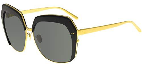 Occhiali da Sole Linda Farrow LINDA FARROW 578 BLACK ALUMINIUM Black Aluminium Gold/Grey 62/14/135 donna