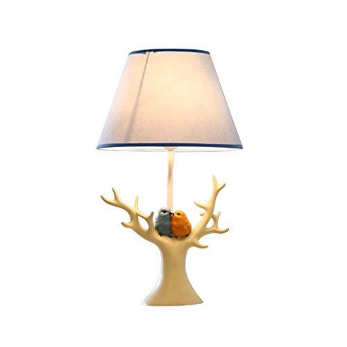 American Style Lampes de table de campagne SYAODU Cute Birds Art Déco E27 Cadeaux créatifs Lumières, feux de résine, fabrication de porte-bijoux