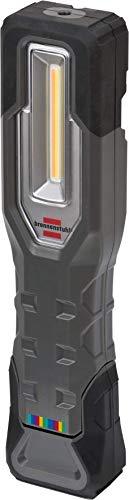 Brennenstuhl Linterna de trabajo portátil HL 700 AT con batería recargable (750 + 120 lm, lámpara LED COB de trabajo e inspección, función 15CRI 96, luz regulable, base magnética, IP54)
