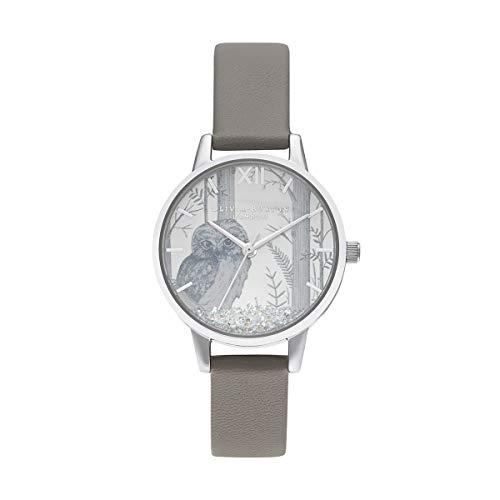 Olivia Burton Damen Analog Quarz Uhr mit veganes Leder Armband OB16SG10