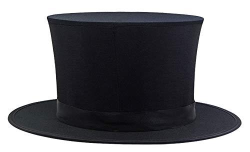 EOZY GEMVIE Zylinder klappbar Hut Schwarz Chapeau Klappzylinder für Gentleman Partyhut Fasching