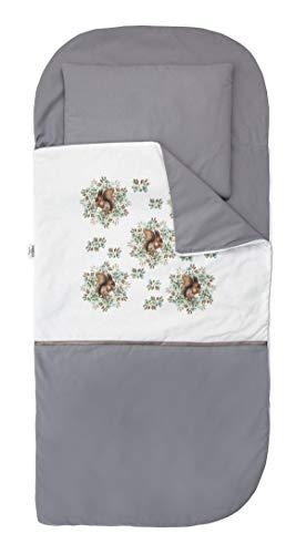 Sango Trade Nap 's Mat Slumber tas Hoeslaken Kleinkinderschlafsack Von 3 Bis 6-7 Jahre Schlafsack für Kleinkinder Krippe Kindergarten Zuhause Bettwäsche für Kinderbett (Eichhörnchen)