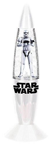 empireposter LED-Lampe - Star Wars - White - Größe Ø6xH18 cm - Glitzerlampe mit Farbwechsel - Mini Dekoleuchte Kinderzimmer