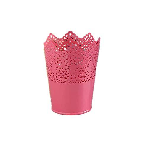Set di 2 contenitori per cosmetici, pennelli da trucco, pennelli per trucco, pennelli per capelli, pennelli e pennelli decorativi, colore: rosso