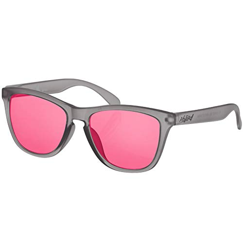 Nebelkind Sonnenbrille Suntastic Smokey-Grey Rot Verspiegelt mit UV-Schutz Brillenetui Unisex One Size