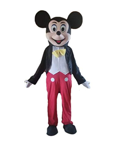 Mickey Mouse Costume for Adults Mickey Mouse Plush Mascot Suit Full Body Fancy Dress