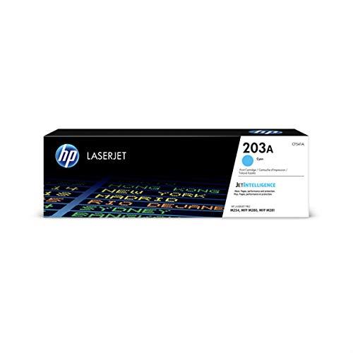 HP 203A CF541A Originele Toner, voor HP Laserjet Pro M254, HP Laserjet Pro M280, HP Laserjet Pro M281, Blauw