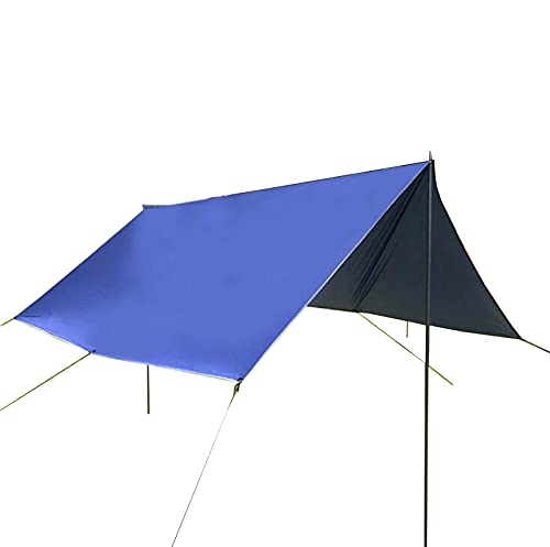 QI-CHE-YI Carpa de Playa, Pérgola, Tolding Multi-Person Tolera para Camping, Pesca, Entretenimiento Backyard, Picnic,Azul