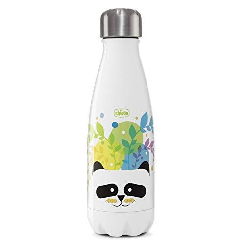 Chicco Drinky Bottiglia Termica Bambini Riutilizzabile, Thermos Bevande Calde in Acciaio Inox, Mantiene la Temperatura fino a 6 Ore, Borraccia Termica per Bambini Durevole - 350 ml