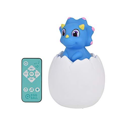 smonke 3D gedrucktes Nachtlicht 7 Farben Fernbedienung Pat Sensor LED Nachtlampe Spielzeug Dinosaurier Ei kreative Nachtlicht Kinderspielzeug blau