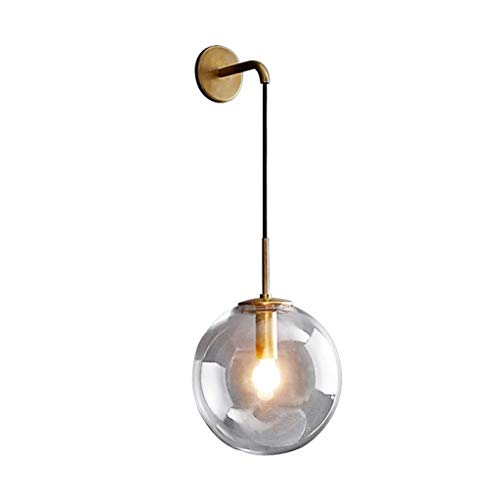 Wandlamp van glas met bol van de creatieve persoonlijkheid van de slaapkamer van het hotel 's nachts, moderne wandlamp, lamp voor het lezen van de hal.