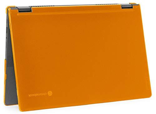 """mCover Hard Shell Case for 2020 Lenovo Chromebook Flex 5 (13"""") 2 in 1 Laptop ( NOT Fitting Lenovo 300E Windows & N21 / N22 / N23 / 300E / 500E / Flex 11 Chromebook ) LEN-CB-FLEX5-13 (Orange)"""