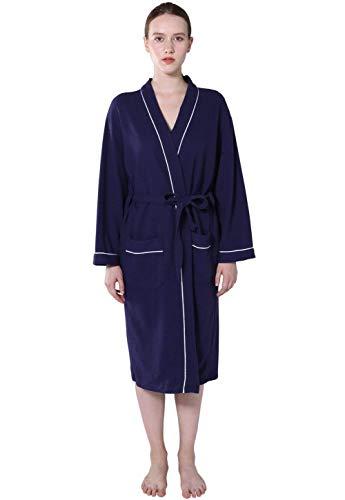 Dames Zijn of Hers Print meisjes wafel kimono stijl spa en badjas lange mouwen V-hals comfortabele locker ochtendjas saunamantel