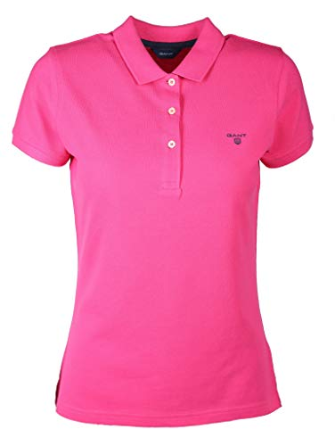 GANT Damen MD. The Summer Pique Poloshirt, Rosa (Cyclamen 653), Small