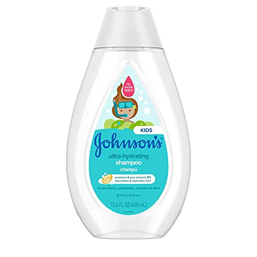Johnson's Ultra-Hydrating Tear-Free Kids' Shampoo with Pro- Vitamin B5 & Proteins, Paraben-,...