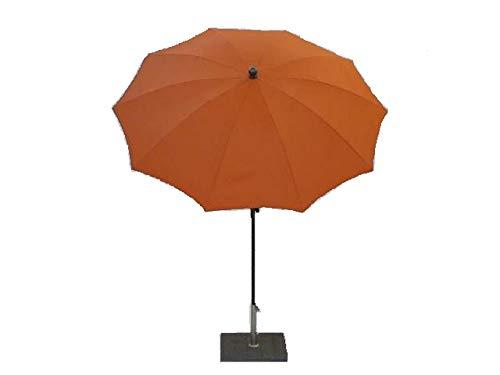Maffei Art 134 runder Schirm Durchmesser cm 200, Stoff Polyester hohe Qualitaet, wasserdicht, mit Knicker. Made in Italy. Farbe Orange