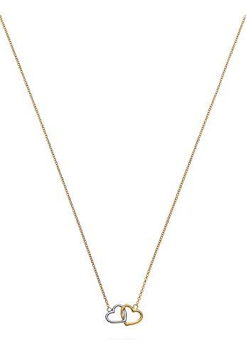 CHRIST Damen-Kette 375er Gelbgold, 375er Weißgold One Size 87377695