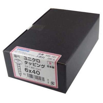 鉄/ユニクロ タッピング 鍋頭 6x40 入数:200本入り 549-197