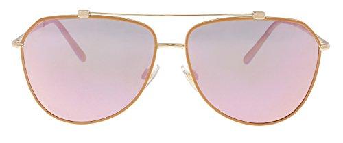 Dolce & Gabbana 0DG2190 12984Z 59 Occhiali da Sole, Oro (Matte Pink Gold/Pink Gold/Greymirrorrosegold), Donna