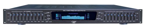 Pyle-Pro PPEQ100 19'' Rack Mount Dual 10 Band 4 Source Input Stereo Spectrum Graphic Equalizer