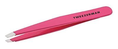 Tweezerman Stainless Steel Slant Tweezer, Pink by Tweezerman