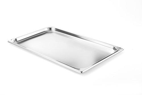 HENDI Gastronormbehälter, Temperaturbeständig von -40° bis 300°C, Heissluftöfen-Kühl- und Tiefkühlschränken-Chafing Dishes-Bain Marie, Stapelbar, 2,5L, GN 1/1, 530x325x(H)20mm, Edelstahl 18/10