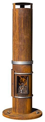 FeuerCampus365 TOWER Gartenkamin aus Cortenstahl