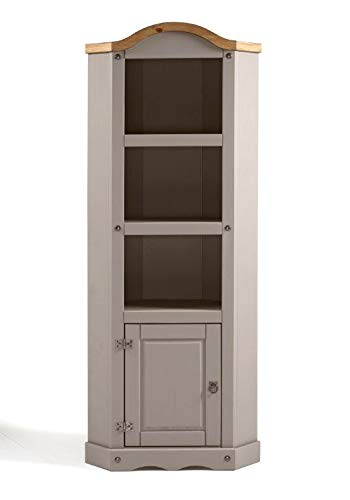 Mercers Furniture Corona Grey Wax Corner Display Unit
