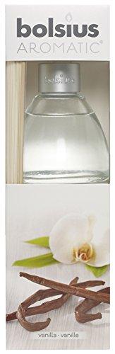 Bolsius Raumduft-Diffuser mit Rattanstäbchen, 120 ml, 1 Box, Vanilla