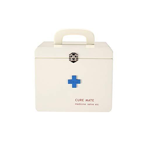 Zoavash Große Kastengesundheitskastenmedizin-Aufbewahrungsbox Zwei Schichten Der Ersten Hilfe des Hölzernen Medizinkastens Nach Hause Hyococ
