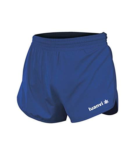 Luanvi Gama Pantalones Cortos de Atletismo, Hombre, Azul Roy