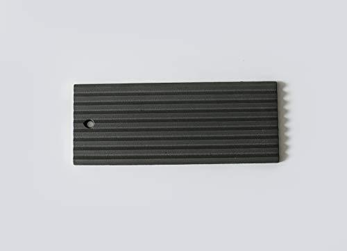 Gussplatte 320mmx130mmx13mm aus reinem Guss, geeignet als Brennraumverkleidung oder Hitzeschutzplatten für alle Kamine, Kamineinsätze, Heizkassetten und Kaminöfen