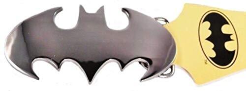 Superhero Bat Symbol Silvertone Metal Belt Buckle