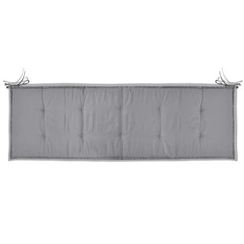 Tidyard Allwetter-Terrassenmöbelkissen, Textilgewebe in Anthrazit/Grau/Creme, Größe Optional