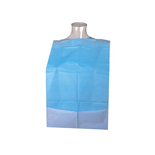 Clim Profesional® - Babero desechable adultos con receptáculo. Caja 500 uds