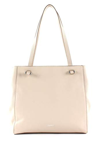 ESPRIT Damen Handtasche Tasche Shopper Alison Shopper Beige 010EA1O318-055