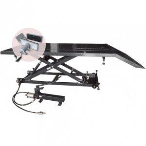 Table de levage Quad-Moto hydraulique et pneumatique extra large 680 kg