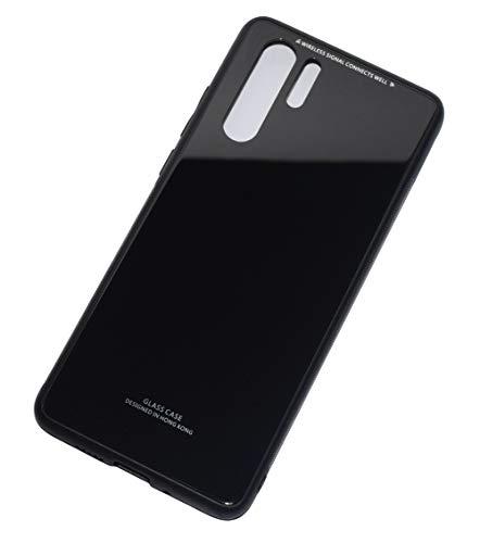 Kepuch Quartz Case Capas TPU &Voltar (Vidro Temperado) para Huawei P30 Pro - Preto