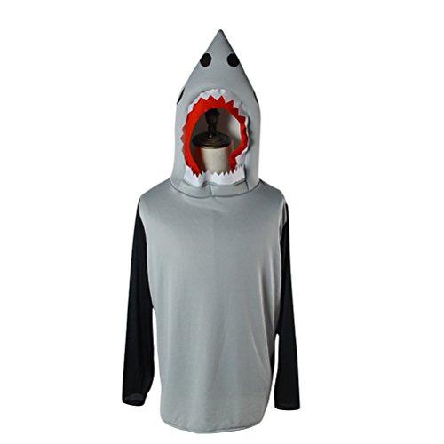 Fantasia de cosplay de tubarão e areia da Hallowen, fantasia masculina para festa de Halloween, roupa de desempenho animal