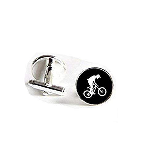 Biker Gemelos bicicleta Stunt Cuff Link para bicicleta plata