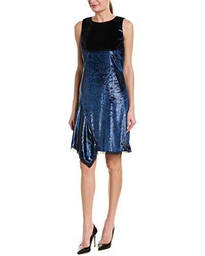 Elie Tahari Women's Tinsel Velvet Serenity Dress, Maritime Blue, 10