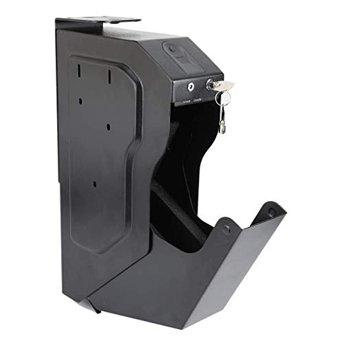 Fingerabdruck-Pistole Tresor, Waffentresor Gun Box, Wand- Gun Safes mit Ersatzschlüssel