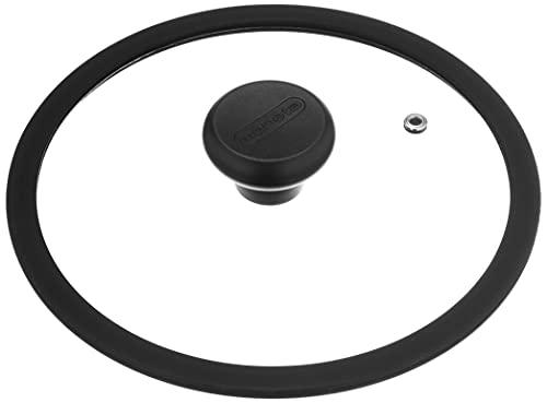 Moneta Etnea Coperchio Vetro, Bordo Silicone, Trasparente, Diametro 20 cm