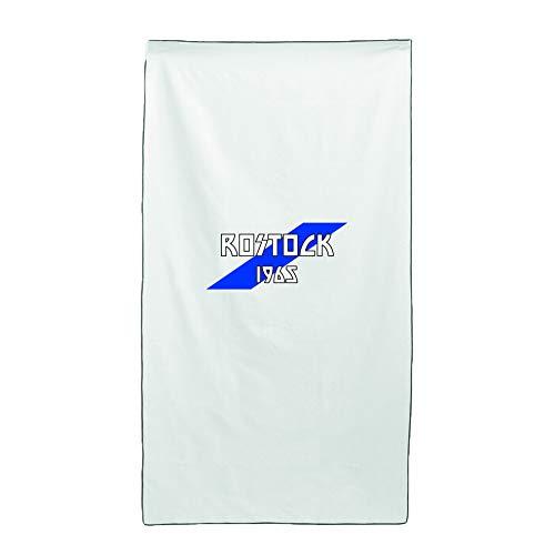 Tipolitografia Ghisleri Handtuch, Strandtuch Handtuch weiß Flagge Rostock 70 x 140 cm
