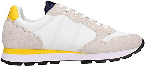 SUN 68 zapatos hombres zapatillas bajas Z30101 0123 TOM SOLID NYLON talla 42 Bianco / giallo