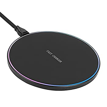 YiQiuKo Wireless Charger 10W Wireless Fast Charging Pad Compatible with Samsung Galaxy S8/S9/S7/S7 Edge/S6/S6 Edge/Note 5/Note 8 iPhone 12/11/XR/XS/X/8/8Plus No AC Adapter