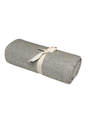 Biancheria Store Tela decorativa para cubrir sofás de color gris liso en 2 tamaños – Fabricada en Italia Gran Foulard multiusos tela multiusos para cubrir sofás o sillones, 260 x 280 cm