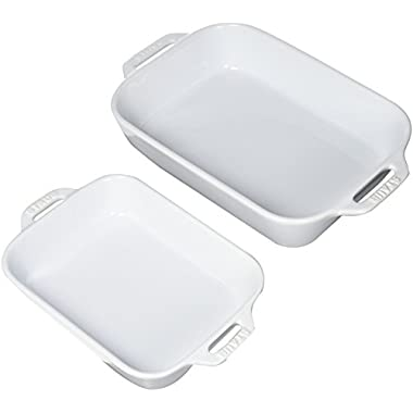 Staub 40508-626 Baking-Dishes Rectangular Set, White